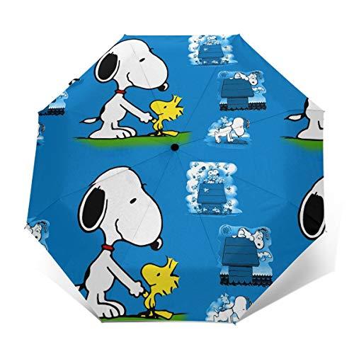Windproof Travel Umbrella Snoopy Compact Folding Umbrella Automatic Open/Close