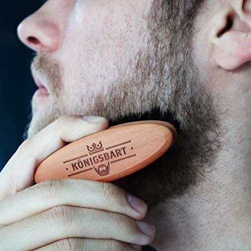 Bartbürste mit hochwertigen Wildschweinborsten + Gratis E-Book Abbildung 2