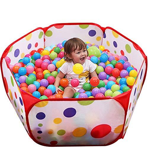 Laufgitter individuell formbar Laufstall Absperrgitter, Erweiterbar +100 pcs colorful ball Soft Plastic ocean ball funny baby kid Swim Pit Toy (Gewöhnlich, 1m)