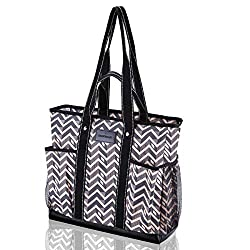 Demoment Canvas Tote Bag with Pockets for Teachers Review