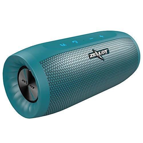 Bluetooth Lautsprecher Portable, Zealot Tragbarer Bluetooth Box Kraftvollem Klang mit 20W Dualen Treibern Powerbank Wasserschutz Bluetooth 5.0 Subwoofer mit eingebautem Mikrofon