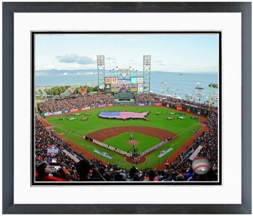 "AT&T Park San Francisco Giants 2012 World Series MLB Stadium Photo (Size:12.5"" x 15.5"") Framed"