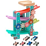 Arkmiido 3 in 1 Car Race Track Vehicle Playsets for Kids with 6