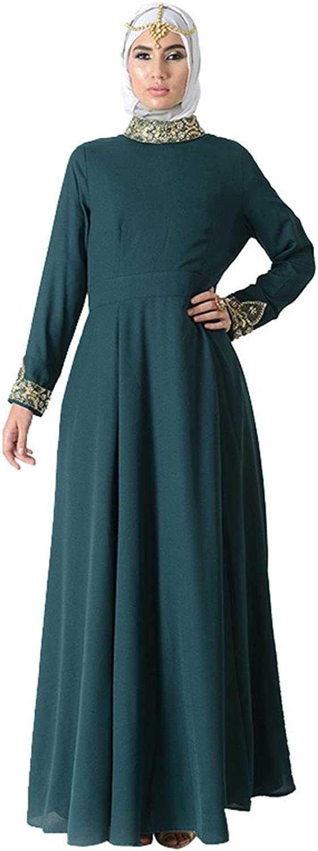 Princess Jeweled Neck Eid Abaya Dress+Hijab