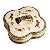 Yuany Multifonction Candy Box Fruit Basket, Plateau Ceramics Dried Fruit Plate 4 Grid6 Grid 7 Grid with Lid Disk Zero for Living Room Household (Size: A)