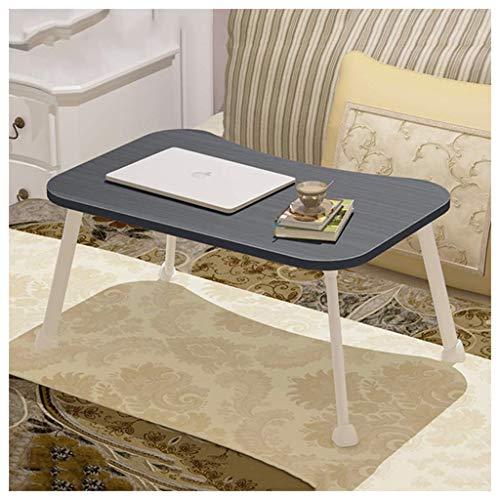 QGQ Escritorio plegable, cama plegable portatil y portatil Cama para portatil Escritorio de estudio-Hogar Mesa de comedor pequena al aire libre, Mesa plegable,Negro