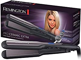 Remington Pro-Ceramic Hair straightener, Extra Long, Extra Wide styling plates, Black, S5525