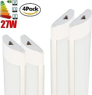 4 Pack Excellent LED Batten Lights,6000-6500k,Super Bright White Light,3FT 27w Linkable Length 25cm LED Fixture Garage Shop Lights