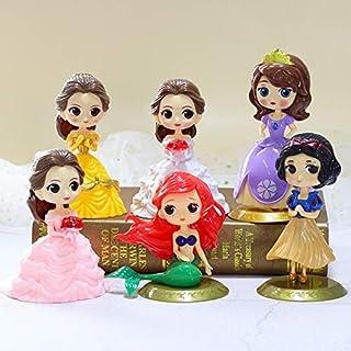 CYSJ Princesa Cake Topper 6Pcs Dibujos Animados Decoración de Tartas Figuras Decoración para Tarta de cumpleaños de Figura...