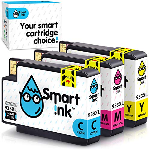 Cartuccia d'inchiostro Smart Ink Compatibile In sostituzione di HP 932XL 932 XL 933XL 933 XL ( C/M/Y 3 Combo Pack ) per la ricarica delle stampanti Officejet 6600 6100 6700 7110 7610 7612 7510 7512