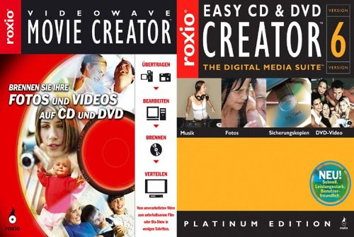 Easy CD & DVD Creator 6 und VideoWave Movie Creator