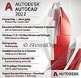 Autodesk AutoCAD 2022 | Digitale Software lizenz / 1 Jahr | Fenster | Express-Lieferung 24h | Enthält Anweisungen zum Software-Download