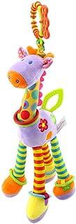 Hamkaw Infant Giraffe Toy Soft Plush Hanging Toy for Car Seat Baby Crib Stroller Giraffe Hanging Toys with Teether