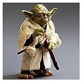 YYQIANG Estatua Figurine Yoda Ropa Real 13cm Modelo Colección Juguetes Regalo Anime Modelo Star Wars Master Anime Figura Caracteres Aficiones Infantiles