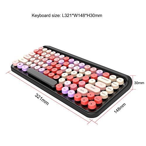 Wireless-Tastatur mit Touchpad, leicht und bequem, geringem Rauschen, komfortable Eingabe, langlebige Batterie Lebensdauer, geeignet für Handys, Tablets, Notebooks