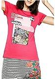 Desigual - Camiseta - para mujer fucsia M