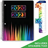 Dated Middle School or High School Student Planner for Academic Year 2020-2021 (Matrix Style - 7'x9' - Color Bars Cover)...
