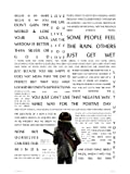 onthewall Bob Marley Die Botschaft in Quotes Poster Art