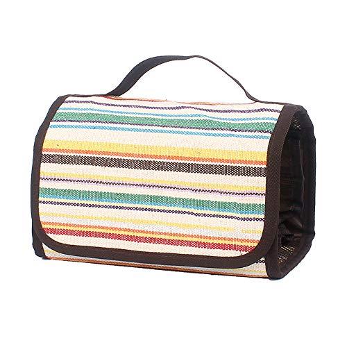 Kulturbeutel Waschbeutel bilden Kosmetische Organizer-Tasche tragbar Beutel mit Griff waschen für Männer und Damen Reisebranche Aufbewahrung (Weiß)