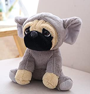 Baby Novelty Toy 20cm Dog Toys Soft Plush Dog Stuff Dolls Stuffed Dog Plush Toy Gifts for Children (Grey)