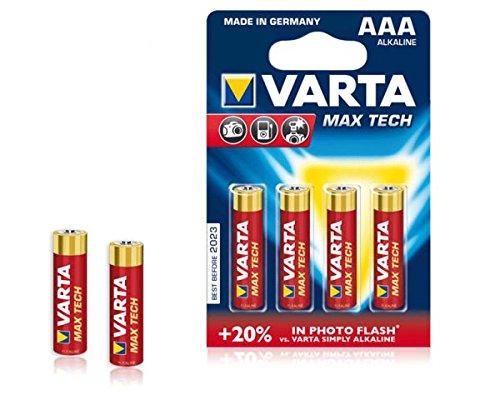 VARTA LONG LIFE - HIGH ENERGY - MAX TECH - professionale Al Litio - MIGNON AA - MICRO AAA - 9 V E-BLOCK - MONO D - BABY C/nuovo & IN CONFEZIONE ORIGINALE in BLISTER 1x 4er Blister AAA MaxTech