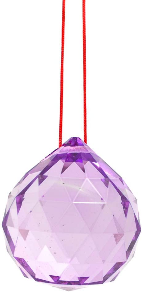 1st Choice Asfour Direct sale of manufacturer Vintage Crystal Weekly update Purple Feng mm Shui 40 Ball