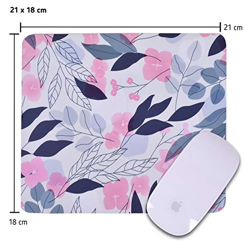 Unique Rectangle Mouse Pad with Non Slip Rubber Base, Comfortable Computer Mouse Pad for Laptop, Pain Relief Mousepad for Office & Home, 8 x 7 inches (Cherry Blossom) Photo #5