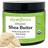 USDA Organic Shea Butter by Sky Organics (16 oz) 100% Pure Unrefined Raw African Shea Butter for...