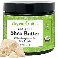 Shea Butter: Unrefined, Pure, Raw Ivory Shea Butter 16oz - Skin Nourishing, Moisturizing & Healing, For Dry Skin, Dusting Powders -For Skin Care, Hair Care & DIY Recipes