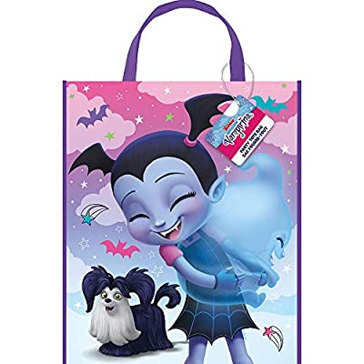 Unique Industries Disney Vampirina Plastic Party Favor Tote Bag (1 Unit) by Unique