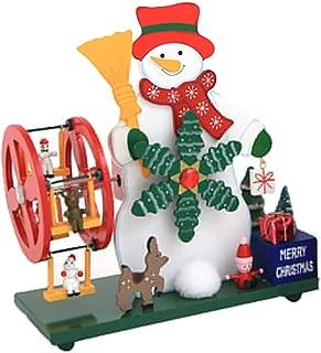 BrawljRORty 【Arriving Before Christmas】 Christmas Snowman Santa Ferris Wheel Windmill Ornament Music Box Desk Decoration for Your Family