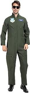 EraSpooky Men Flight Suit Costume Top Gun Coverall Movie Cosplay Jumpuit