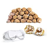 Discover with Dr. Cool Break Your OWN 25 Large (2'-2.5') Premium Moroccan Geodes - Great Birthday Party Favors and a Fun Family Activity, Includes Safety Goggles