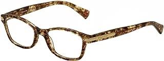 coach confetti light brown eyeglasses