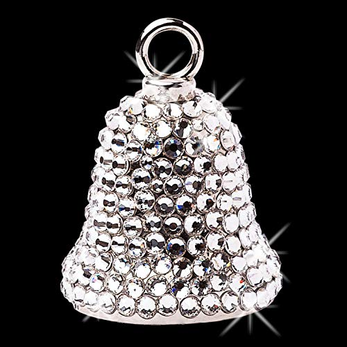 Sparkle Rider Motorcycle Ride Bell for Women Handcrafted with Swarovski Crystals