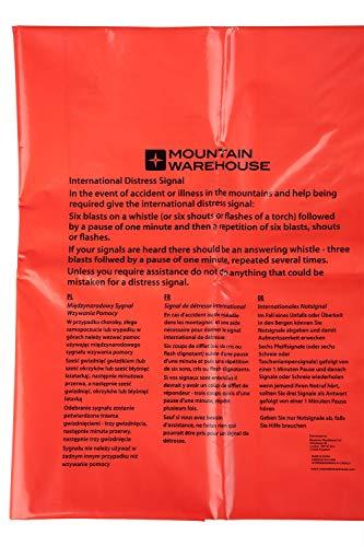 Mountain Warehouse Sac de Survie -190cmX75cm, Trousse de Survie en Plastique résistant, Sac à Viande d'urgence, abri Chaud - Extérieur, Camping et randonnée Orange Taille Unique
