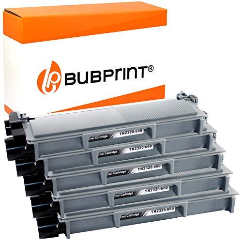 Bubprint Kompatibel Toner als Ersatz für Brother TN-2320 TN-2310 für DCP-L2500D DCP-L2520DW HL-L2300D HL-L2340DW HL-L2360DN HL-L2365DW MFC-L2700DN MFC-L2700DW Schwarz 5er-Pack