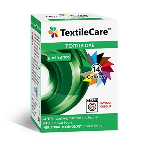 TextileCare Waschmaschinen-Stofffarbe für Kleidung und Textilien, 350 g Farbstoff für 600 g Kleidung, 14 Farben (grünes Gras)