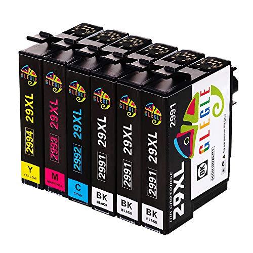GLEGLE 29 29XL Cartucce d'inchiostro Compatibile con Epson XP-255 XP-245 XP-247 XP-235 XP-352 XP-332 XP-442 XP-342 XP-257 XP-355 XP-452 XP-455 XP-345 XP-445 XP-335 XP-432 XP-435 Confezione da 6