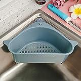 Sink Strainers Basket Kitchen Drain Shelf Sink Storage Holder with Suction Cup for Support Corner