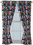 Jay Franco Marvel Avengers Team 63' inch Drapes 4 Piece Set - Beautiful Room Décor & Easy Set up - Window Curtains Include 2 Panels & 2 Tiebacks (Official Marvel Product)