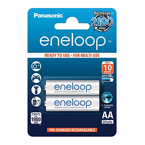 Panasonic eneloop, Ready-to-Use Ni-MH accu AA. 2er Pack Wit