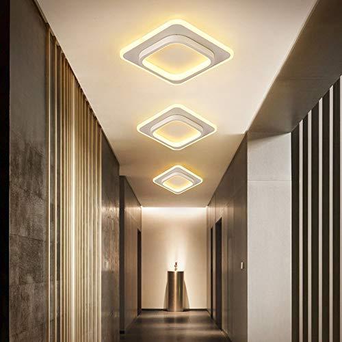 Tesysyet Moderna Casa Entrada Hall Armario Lámpara LED Simple Lámpara Nórdica Balcón Pasillo Lámpara de Techo Pasillo Luces