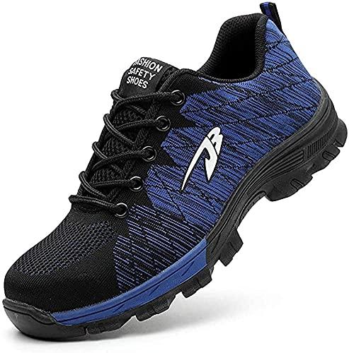 Zapatos de Seguridad Hombre Mujer Zapatillas de Seguridad con Punta de Acero Zapatos de Trabajo Transpirables e Industriales