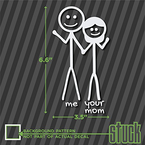 Stick Figure Me and Your Mom - vinyl decal sticker die-cut funny family couple - 3.5'x6.6'