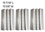 BBQ funland SH2461 (3-Pack) Stainless Steel Heat Plate Replacement for Select American Outdoor 24NB, 24NG, 24NP, 24PC, 36NB, 36PC and Dyna-Glo DCP480CSP Gas Grill Models