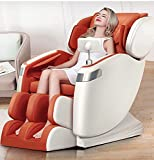 New Full Body Electric Massage Chair Recliner Heating Foot Roller Zero Gravity 8 Points Roller (Orange)