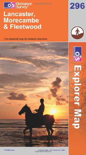 OS Explorer map 296 : Lancaster, Morecambe & Fleetwood