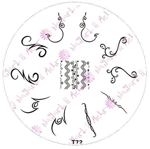 Pochoir de stamping # T 72 Tribal, ornements