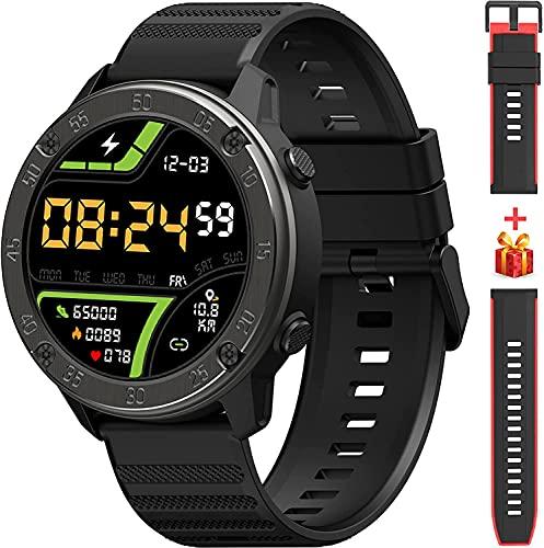 """IOWODO X5 Smartwatch, 1.3"""" Smartwatch Herren mit personalisiertem Bildschirm, Musiksteuerung, Kamerasteuerung, Schlafmonitor, IP68 Wasserdicht Fitness Tracker Outdoor Sportuhr für iOS Android Handy"""
